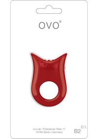 Ovo B2 Vibrating Ring Red