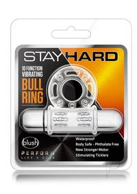 Stay Hard 10x Vibrating Bull Ring Clear