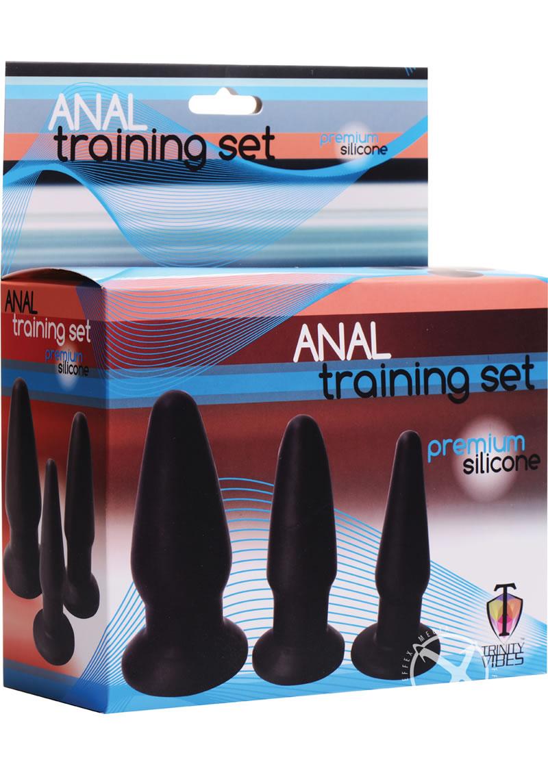 Trinity V Silicone Butt Plug 3pc Kit
