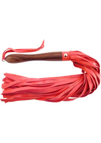 Rouge Wooden Handle Flogger Red