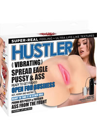 Vibrating Spread Eagle Pussy and Ass