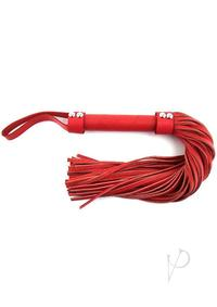 Rouge Short Leather Flogger Red
