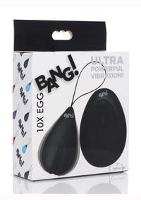 Bang 10x Silicone Vibrating Egg Black