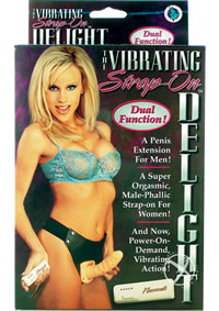 The Vibrating Strap-on Delight