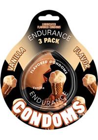Vanilla Endurance Condom 3pk(individual)