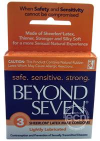 Beyond Seven Condoms 3pk