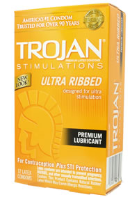 Trojan Ultra Ribbed 12`s (disc)