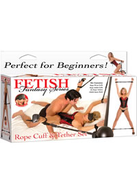 Ff Rope Cuff and Teather Set