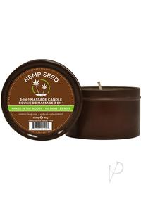 Round Massage Candle Naked Woods
