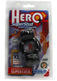 Hero Superstud Pleasure Ring - Black