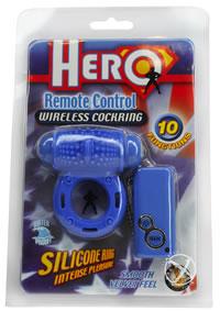 Hero Remote Control Cockring - Blue