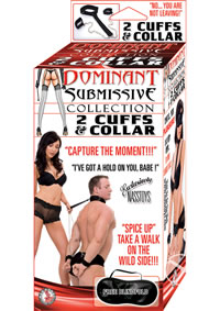 Dom/sub 2 Cuffs And Collar - Black