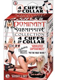 Dom/sub 4 Cuffs And Collar - Black