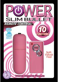 Power Slim Bullet W/remote - Pink