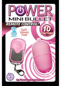Power Mini Bullet W/remote - Pink