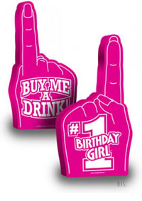 #1 Birthday Girl Foam Finger (disc)