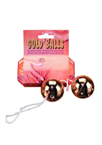 Gold Vibro Balls 2 Pc Set (disc)