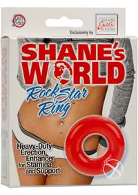 Shanes World Rock Star Ring Red