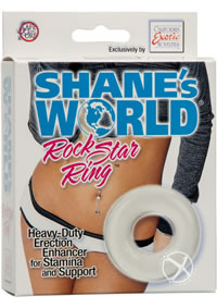 Shanes World Rock Star Ring Clear