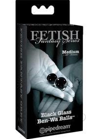 Ffle Glass Ben Wa Balls Medium Black