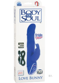 Body and Soul Rechargeable Love Bunny Blue