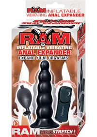 Ram Inflatable Vibe Anal Expander Black