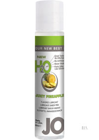 Jo H2o Flavor Lube Pineapple 1oz 12/disp