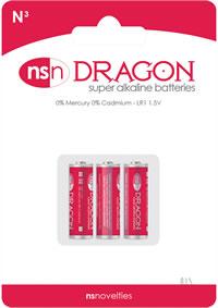 Dragon Alkaline N3 3pk