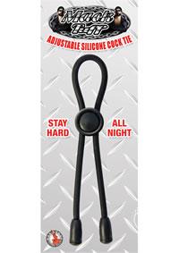 Mack Tuff Adjustable Cock Tie Black