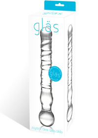 Joystick Clear Glass Dildo