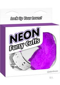 Neon Furry Cuffs Purple