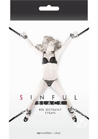 Sinful Bed Restraint Straps Black