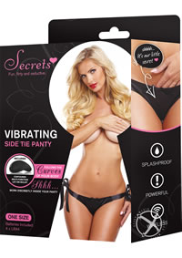Secrets Vibra Side Tie Panty Black(disc)