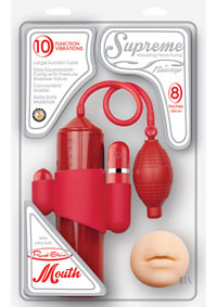 Supreme Vibe Penis Pump Mouth Red(disc)