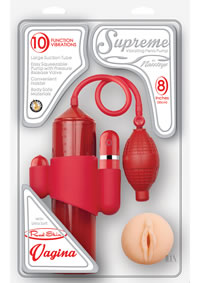 Supreme Vibe Penis Pump Vagina Red(disc)