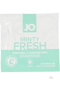 Jo Wipes Minty Fresh (single) 24/disp