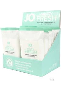 Jo Wipes Minty Fresh 12pk 12/disp