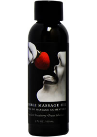 Edible Massage Oil Strawberry 2oz