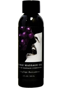 Edible Massage Oil Grape 2oz