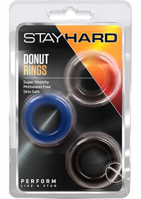 Stay Hard Donut Rings 3pk