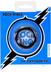 Rock Rings Cocktagon Xxl Black (disc)
