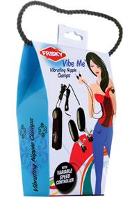 Frisky Vibe Me Vibrating Nipple Clamps