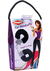 Frisky Fur Handcuffs Caught In Candy