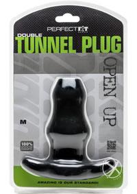 Double Tunnel Plug Medium Black