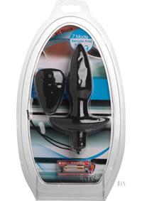 Jet Black 7x Remote Anal Plug Silicone