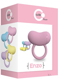 Cute Enzo Couples Ring Pink