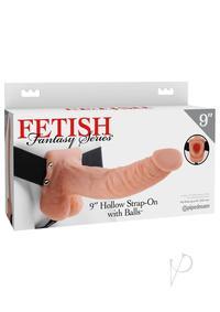 Ff Hollow Strap On W/balls 9 Flesh