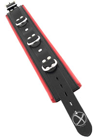 Rouge 3 Ring Padded Collar Black /red