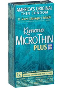 Kimono Microthin W Aqua Lube 12pk