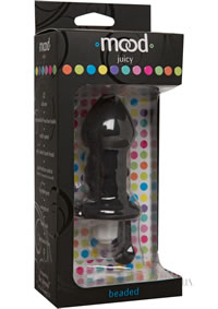 Mood Juicy Beaded Plug  black